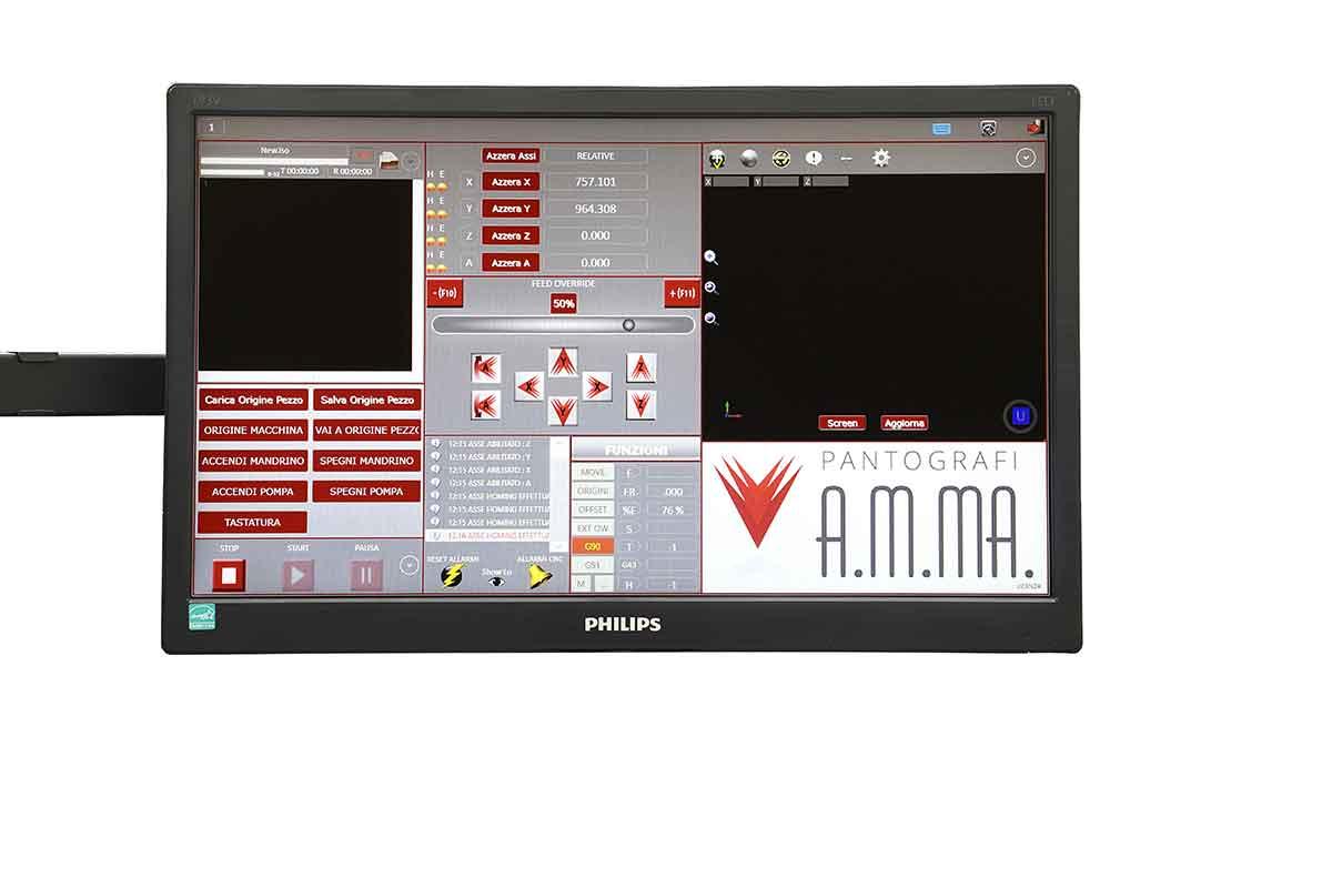 software di controllo pantografi